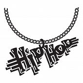 Hip Hop Jewelry Icon. Simple Illustration Of Hip Hop Jewelry Icon For Web Design Isolated On White B poster