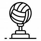 Volleyball Cup Icon. Outline Volleyball Cup Icon For Web Design Isolated On White Background poster