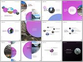 Minimal Brochure Templates Colorful Circles, Round Shapes. Covers Design Templates For Square Flyer, poster