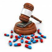 stock photo of pharmaceutical company  - medical insurance concept with pills - JPG