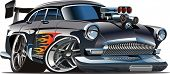 Vektor-Retro Cartoon-Hot-Rod