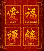 Chinese character symbol about blessing