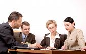 picture of business meetings  - group of people negotiate at the desk - JPG
