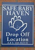 Safe Baby Haven Sign