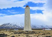 Malarrif White Lighthouse At Snaefellsnes Island, Iceland poster