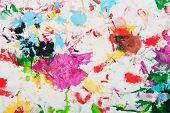 Abstract Multicolored Paints Fabric Background.