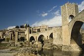 Cityscape of Besalu, Spain