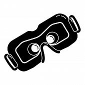 Game Goggles Icon. Simple Illustration Of Game Goggles Icon For Web Design Isolated On White Backgro poster