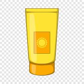 Sun Lotion Icon. Cartoon Illustration Of Sun Lotion Icon For Web poster