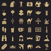 Tour Icons Set. Simple Style Of 36 Tour Icons For Web For Any Design poster