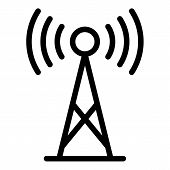 5g Antenna Icon. Outline 5g Antenna Icon For Web Design Isolated On White Background poster