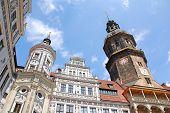 Häuserfassaden am Neumarkt in Dresden, Deutschland