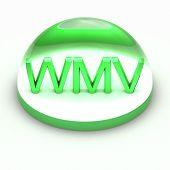 Icono de formato de archivo de estilo 3D - WMV