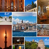 Collage Of Istanbul Turkey Images