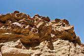 Sandstone. Split Mountain in Anza-Borrego Desert State Park