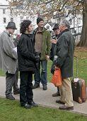 Exeter freiwillige Engange mit der Öffentlichkeit am Standort beschäftigen Exeter Exeter Kathedrale zu besetzen.