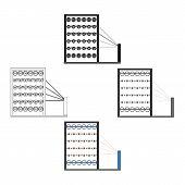 Machinery, Single Icon In Cartoon Style.machinery Bitmap Symbol Stock Illustration Web. poster