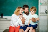 Count Numbers And Math On Finger. Home Family Math Schooling - Parents Teaching Kids Private Lessons poster