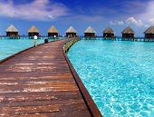 Insel im Ozean Overwater-Villen