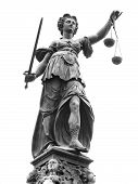 stock photo of jury  - Statue of Lady Justice  - JPG