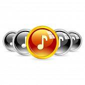 Vector music buttons.