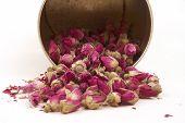 Secado de capullos de rosas, tener un buen sueño de bancos
