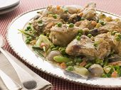 Fricassee Of Chicken With Spring Vegetables