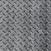 Background of metal diamond plate in silver color.