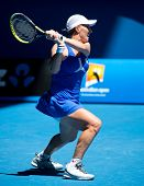 MELBOURNE - JANUARY 23: Svetlana Kuznetsova of Russia in her quarter final loss to Victoria Azarenka