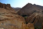 stock photo of tozeur  - Spectacular Canyon of Chekiba  - JPG