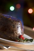 Christmas Pudding With A Brandy Flamb