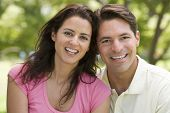 Couples Outdoors Smiling