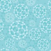Buckyballs seamless pattern background
