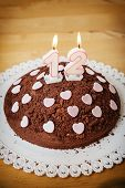 Geburtstag-Jubiläum-Kuchen mit Kerzen anzeigen Nr. 12