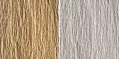 Satz von 2 gaufriert Papier Texturen: Braun und weiß