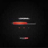 Red lighting progress bar on dark background