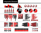 Infographic In Black, Red And Gray Color