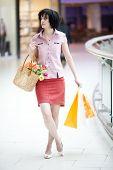 Brunette Girl In Shopping Centre