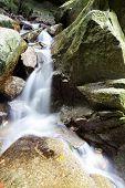 Beautiful Tropical Rain forest Waterfall in Sai Khao National Park in Thailand