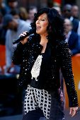 NEW YORK-SEP 23: Singer Cher performs on NBC's Today Show at Rockefeller Plaza on September 23, 2013 in New York City.