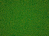 Green Abstract Vector Background - Electronic Circuit Board