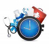 Medical Time Concept Illustration Design