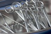 Steril Surgical Forceps In  Kidney Tray