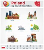 picture of shipyard  - Vector Poland travel destinations icon set - JPG