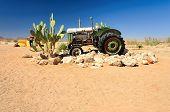 Wrecks in Namib Desert