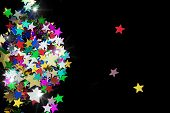 Colorful Stars On Black Background