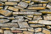 Ancient Natural Stone Wall Pattern Background.