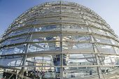 Glass Dome On Reichstag Building