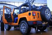 The New Jeep Off-road Vehicle On Display In A Car Sales Shop, Tangshan, China
