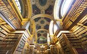 The library at the Assemblee Nationale, heritage day, Paris, France